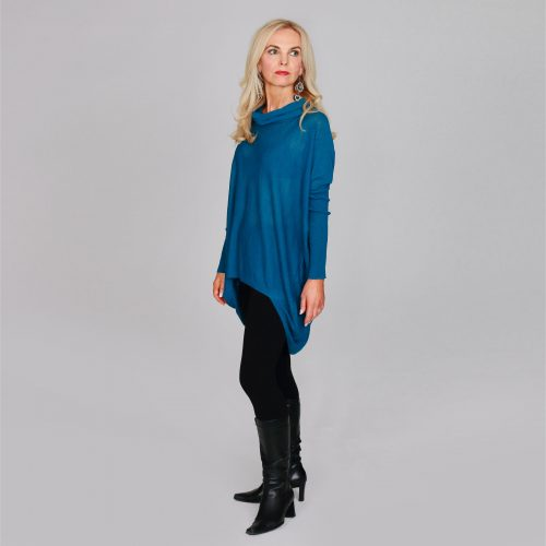 Teal Cowl Neck Jumper/Tunic