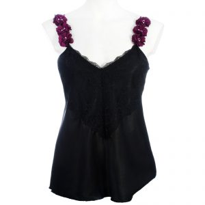 Camisole with Flower Trim