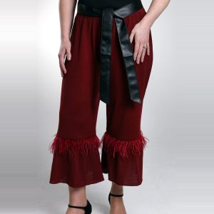 Merino Knit Cropped Trousers