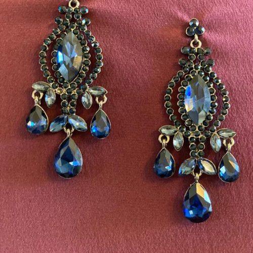 Cobalt Vintage Earring