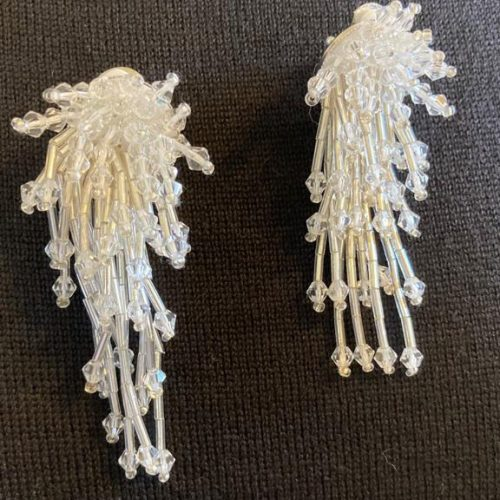 Bianco Beaded Clip Earring