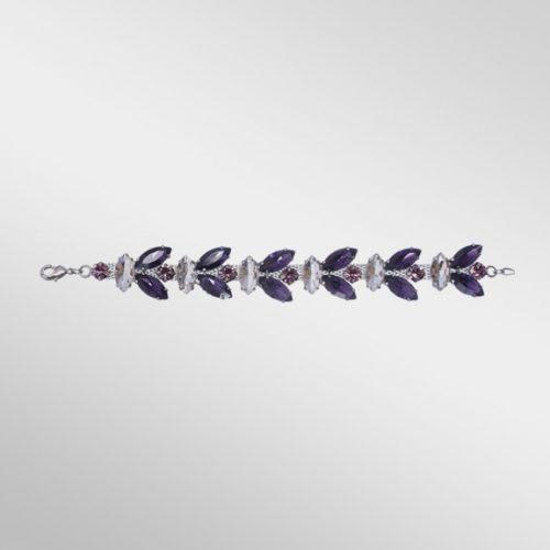 Violet Rhinestone Bracelet